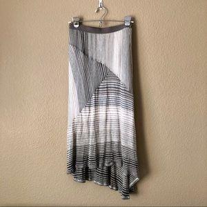 Ella moss high low asymmetrical striped skirt